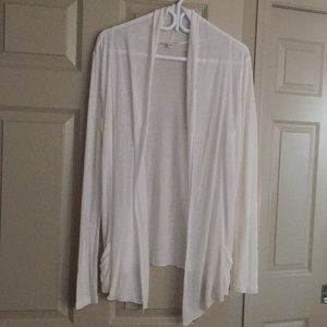 Tops - NWOT White Cotton Blend Cardigan. Size Large